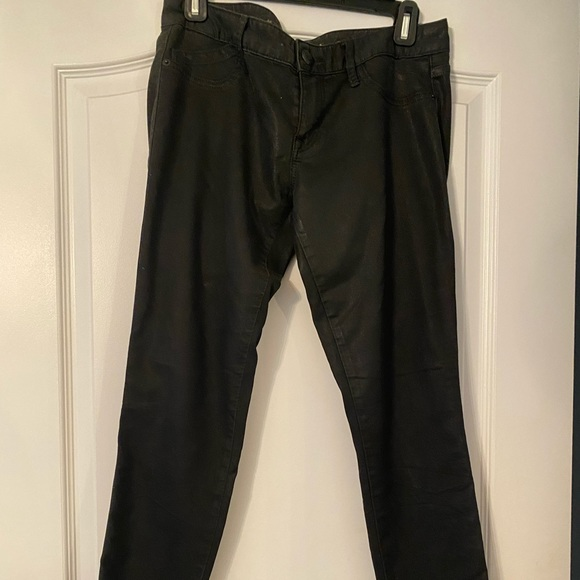 Express black coated jeans
